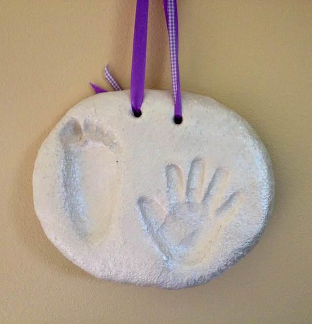 Salt Dough Hand & Foot Print