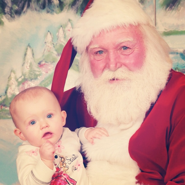 Ellie's first experience with Santa - and a perfect one at that.