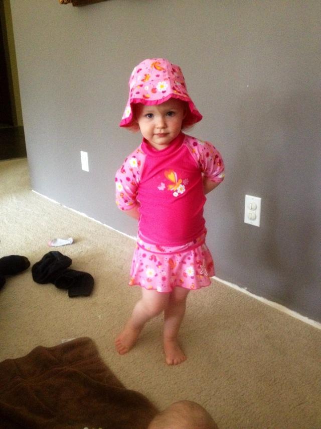 Ellie's new swimsuit