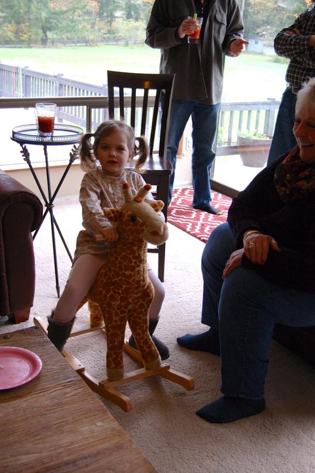 Stella on Giraffe
