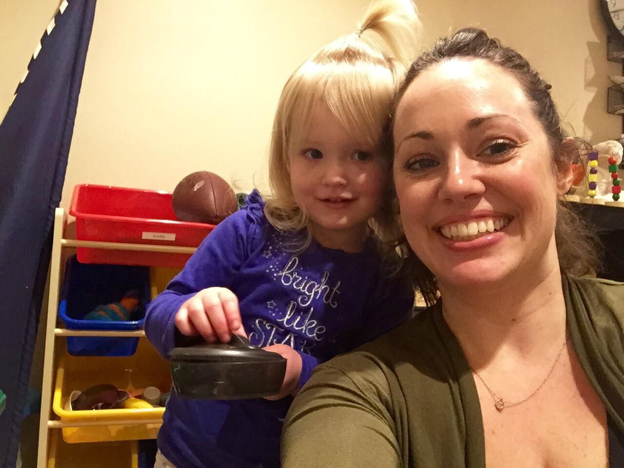 Playtime mom and Ellie selfie