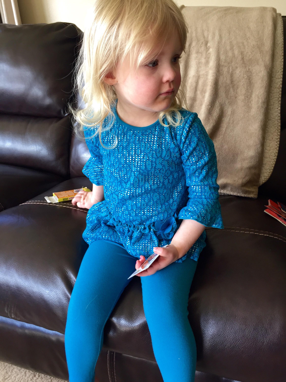 She loves blue